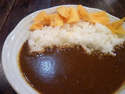 喫茶ミクロ「パパイヤカレー」(ジュースセット) 800円